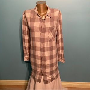 TNA oversized plaid shirt